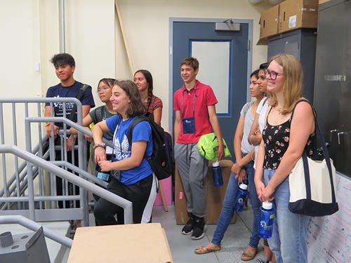 group of students in lab