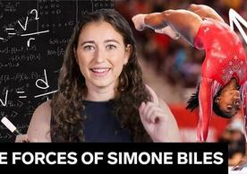 scientist and gymnast collage