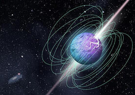 illustration of magnetar